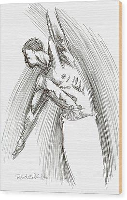 Dance Wood Print by Robert Schnieders