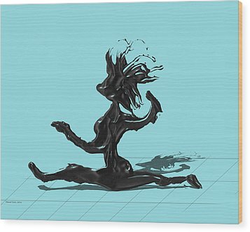 Dancer - Island Paradise Blue Wood Print by Manuel Sueess