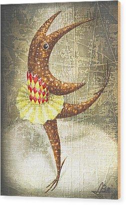 Dancer Wood Print by Lolita Bronzini