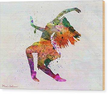 Dancing To The Night  Wood Print by Mark Ashkenazi