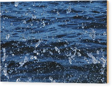Dancing Water Wood Print by Debbie Oppermann