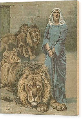 Daniel In The Lions Den Wood Print by John Lawson