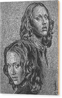 Dark Angel Wood Print by Maria Arango