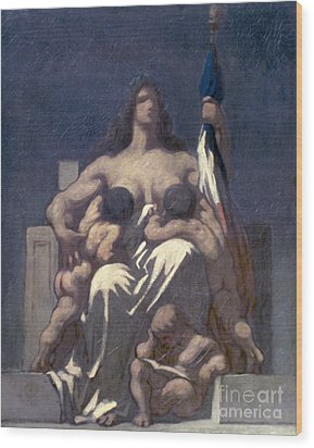 Daumier: Republic, 1848 Wood Print by Granger