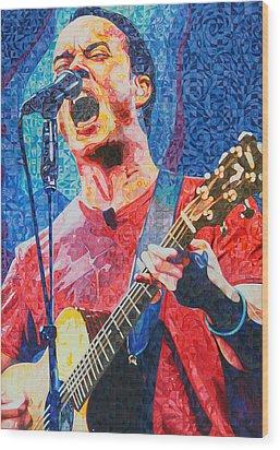 Dave Matthews Squared Wood Print by Joshua Morton