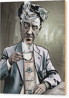 David Lynch - Strange Brew Wood Print by Sam Kirk