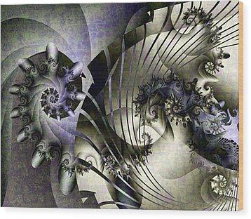 David's Lyre Wood Print by David April