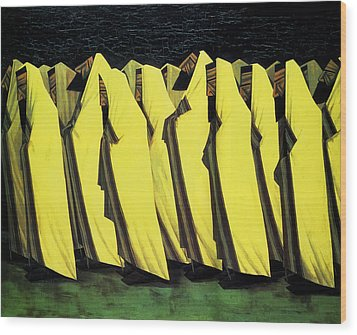 Day Of Atonement Wood Print by Jacob Kramer