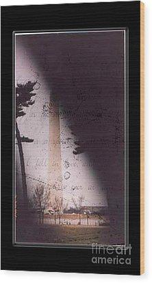 Dc Grunge  Wood Print by Lynn Gettman