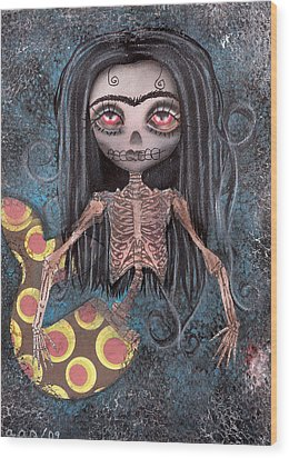 Dead In The Flesh Wood Print by  Abril Andrade Griffith