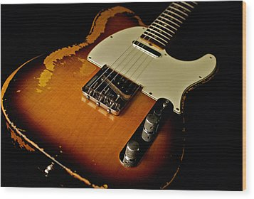 Dean Deleo - 1967 Fender Telecaster Wood Print by Lisa Johnson