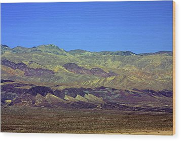 Death Valley - Land Of Extremes Wood Print by Christine Till