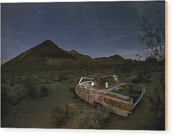 Death Valley Drive-in Wood Print by Sean Foster
