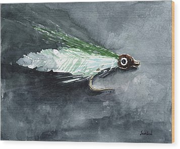 Deceiver Fishing Fly Wood Print by Sean Seal