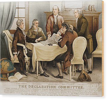 Declaration Committee 1776 Wood Print by Photo Researchers