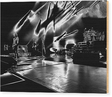 Def Leppard At Saratoga Springs 5 Wood Print by David Patterson