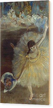 Degas: Arabesque, 1876-77 Wood Print by Granger