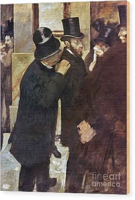 Degas: Stock Exchange Wood Print by Granger