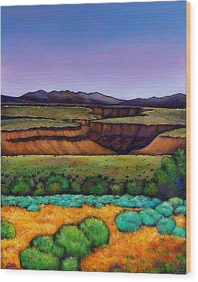 Desert Gorge Wood Print by Johnathan Harris
