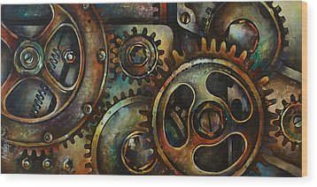Design 2 Wood Print by Michael Lang