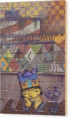 Detail - Mural Coney Island 2 Wood Print by Robert Ullmann
