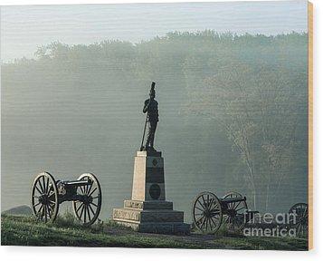 Devil's Den Monument At Gettysburg Wood Print by John Greim