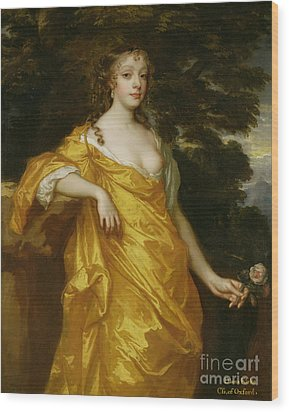 Diana Kirke-later Countess Of Oxford Wood Print by Sir Peter Lely