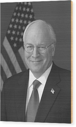 Dick Cheney Wood Print by War Is Hell Store