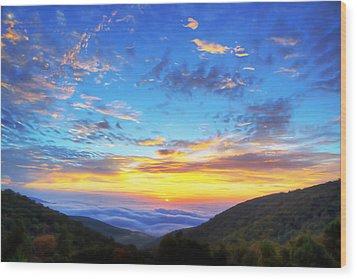 Digital Liquid - Good Morning Virginia Wood Print by Metro DC Photography