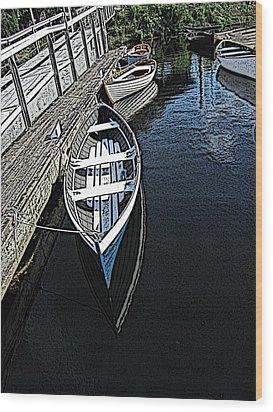 Dockside Quietude Wood Print by Tim Allen