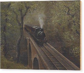 Dolgoch Viaduct Wood Print by Richard Picton