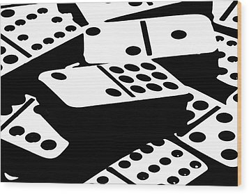 Dominoes IIi Wood Print by Tom Mc Nemar