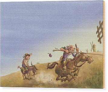 Don Quixote Wood Print by Andy Catling