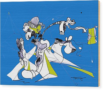 Don Quixote  Wood Print by Tome Caupers