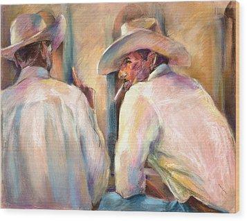 Dos Amigos Wood Print by Joan  Jones