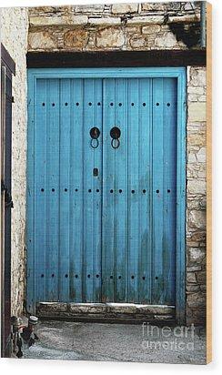 Double Blue Wood Print by John Rizzuto