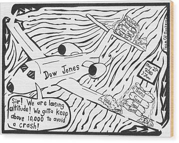 Dow Jones Airlines By Yonatan Frimer Wood Print by Yonatan Frimer Maze Artist