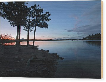 Dowdy Lake Silhouette Wood Print by James Steele