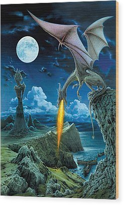Dragon Spit Wood Print by The Dragon Chronicles - Robin Ko