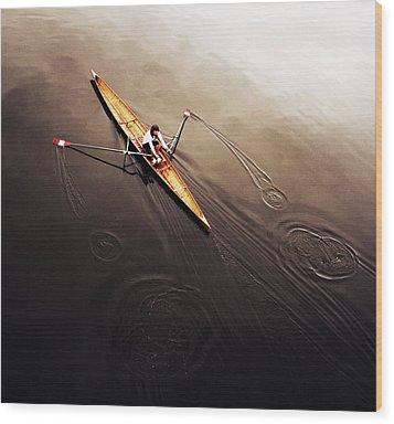 Dragonfly Wood Print by Fulvio Pellegrini