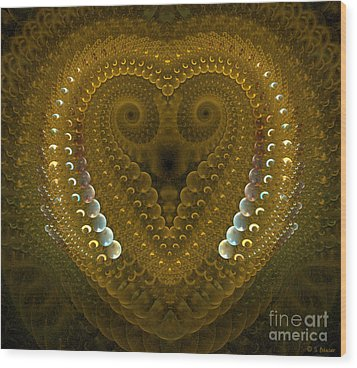 Dragonheart Wood Print by Sandra Bauser Digital Art