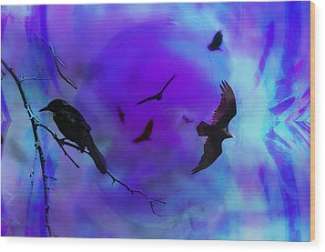 Dreaming Of Flying Wood Print by Bill Cannon