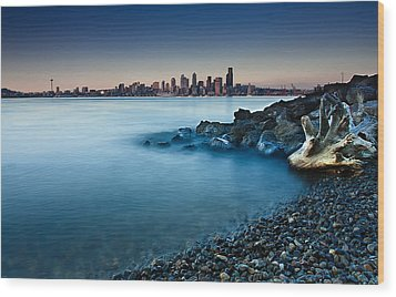Dreamy Seattle Skyline Wood Print by Sanyam Sharma
