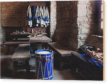 Drum Corps  Wood Print by Peter Chilelli
