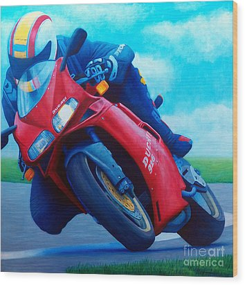 Ducati 916 Wood Print by Brian  Commerford