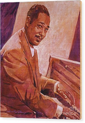 Duke Ellington Wood Print by David Lloyd Glover
