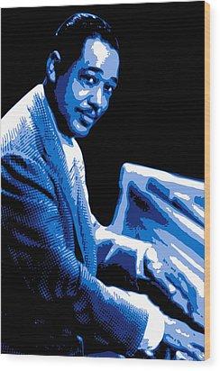 Duke Ellington Wood Print by DB Artist