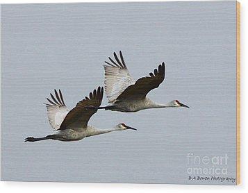Dynamic Duo Wood Print by Barbara Bowen