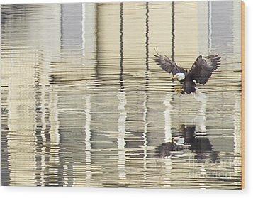Eagle Abstract Wood Print by Idaho Scenic Images Linda Lantzy