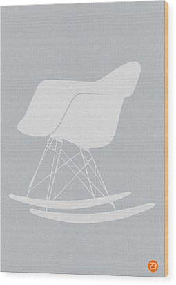 Eames Rocking Chair Wood Print by Naxart Studio